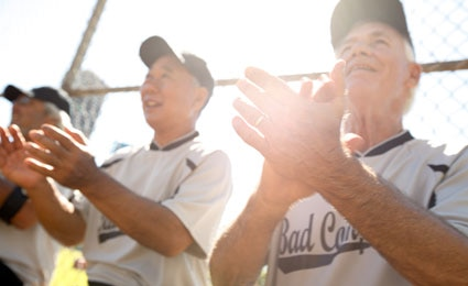 Photo of baseball players clapping