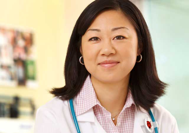 Photo of a female doctor smiling